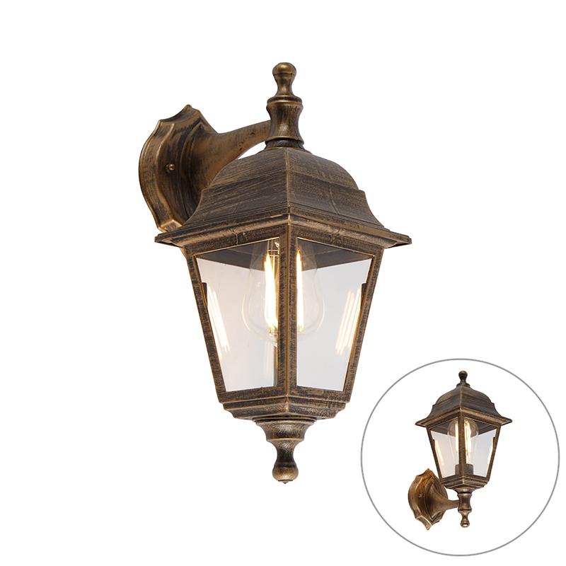 Buiten wandlamp antiek goud IP44 - Capital