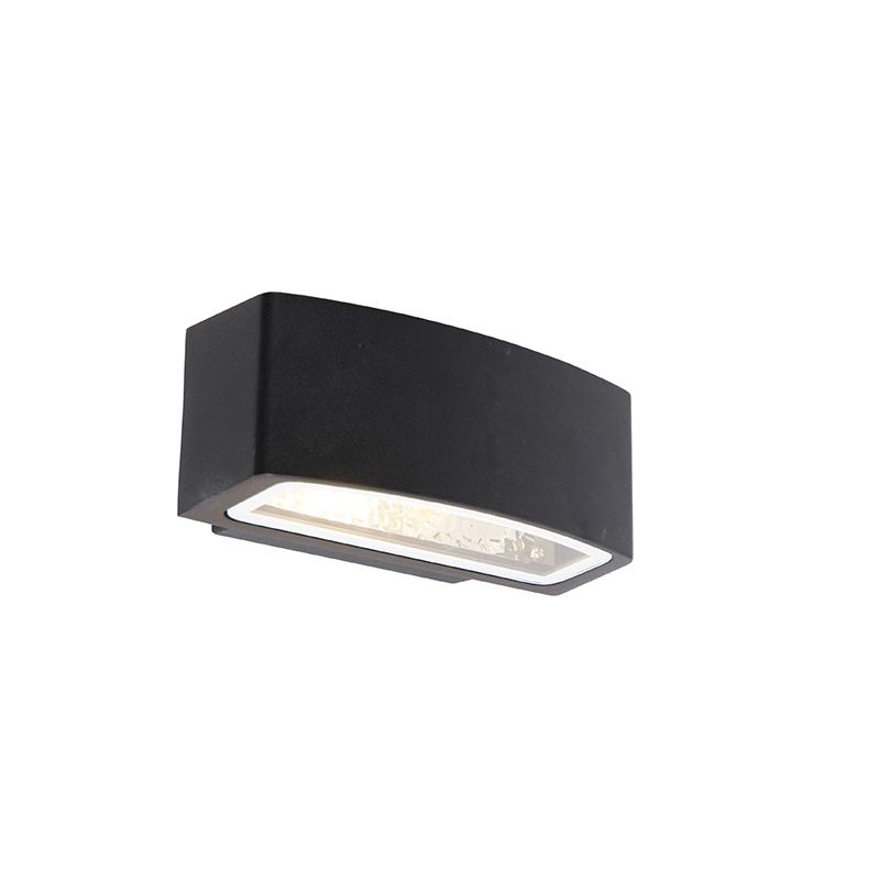 Moderne buitenwandlamp zwart IP44 - Latina