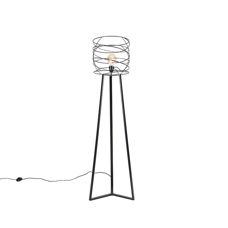 Design vloerlamp zwart - Spira