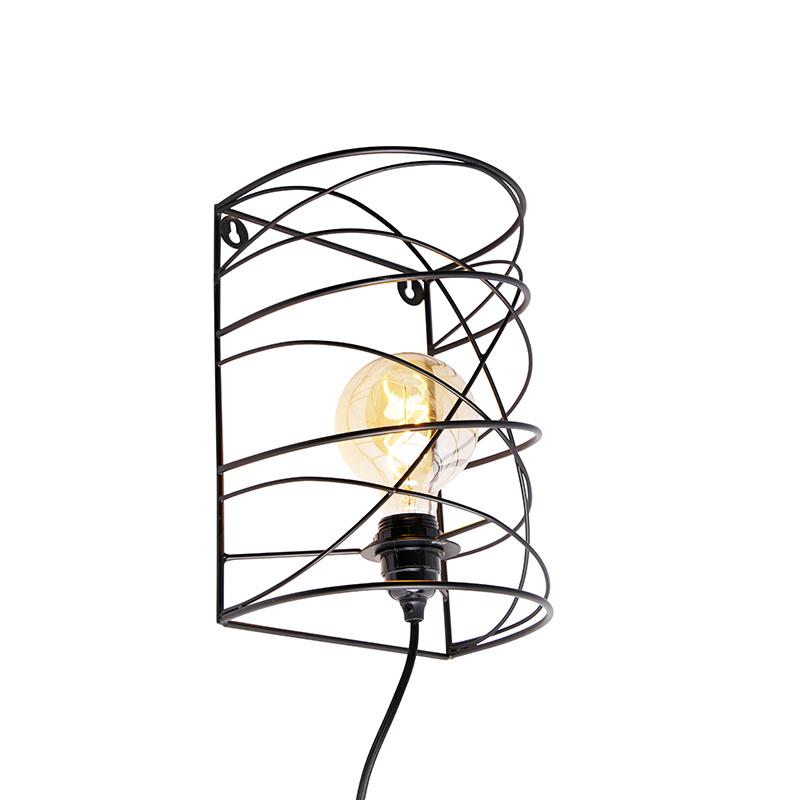Design wandlamp zwart - Spira