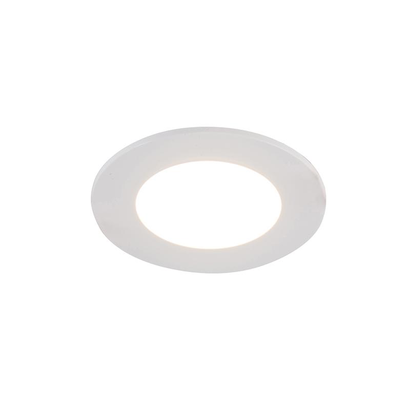 Weißer Einbaustrahler inkl. LED 3-stufig dimmbar IP65 - Blanca