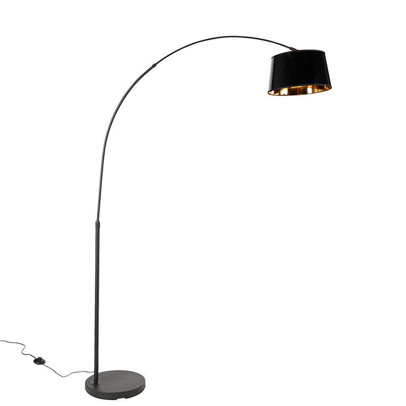 Moderne booglamp zwart met goud - Arc Basic