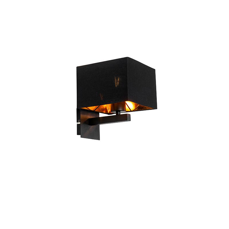 Moderne wandlamp zwart met goud - VT 1