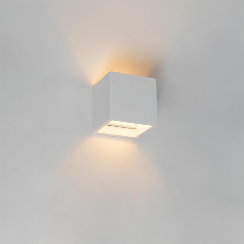 Moderne vierkante plafondlamp gips - Kay Novo