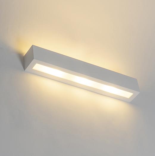 Moderne wandlamp wit 3-lichts - Tjada Novo