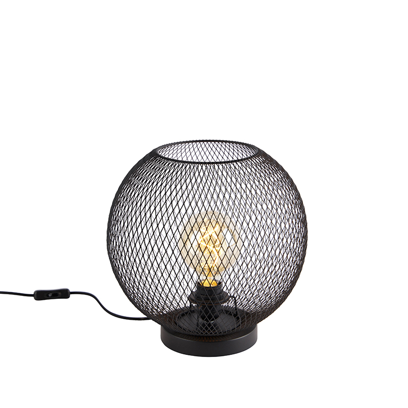 Moderne tafellamp zwart - Mesh Ball