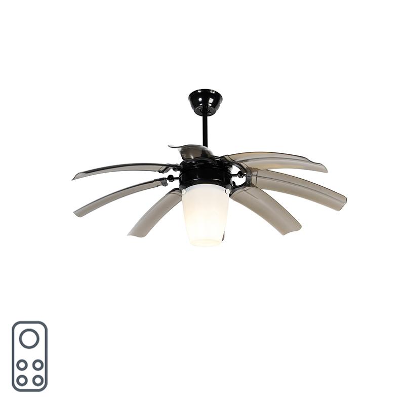 Plafondventilator zwart met afstandsbediening - Wings 42