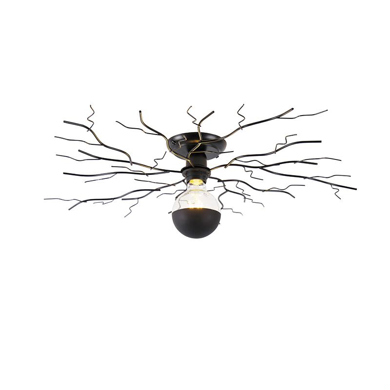 Lampa sufitowa Art Deco czarna 50 cm - Ramuri