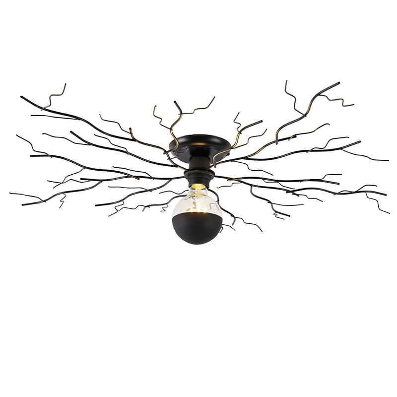 Lampa sufitowa Art Deco czarna 80 cm - Ramuri
