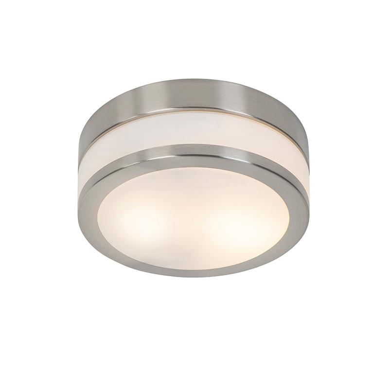 Klassieke ronde plafondlamp zilver - Flavi Q