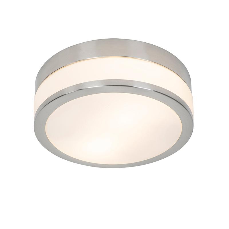 Klassieke ronde plafondlamp zilver 28 cm - Flavi Q