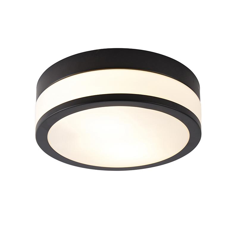 Klassieke plafondlamp zwart 28 cm - Flavi