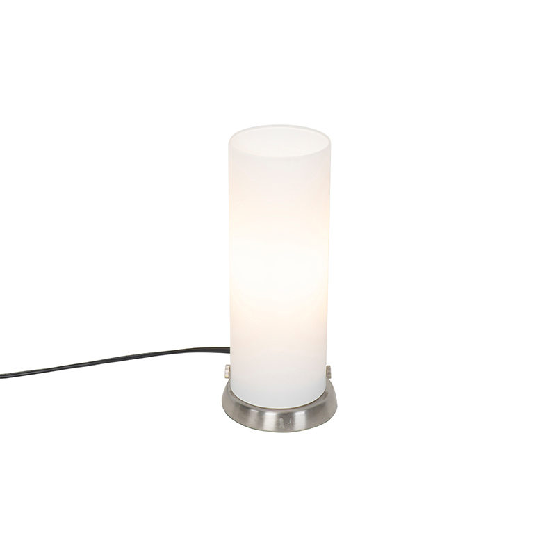 Moderne tafellamp staal - Andrew