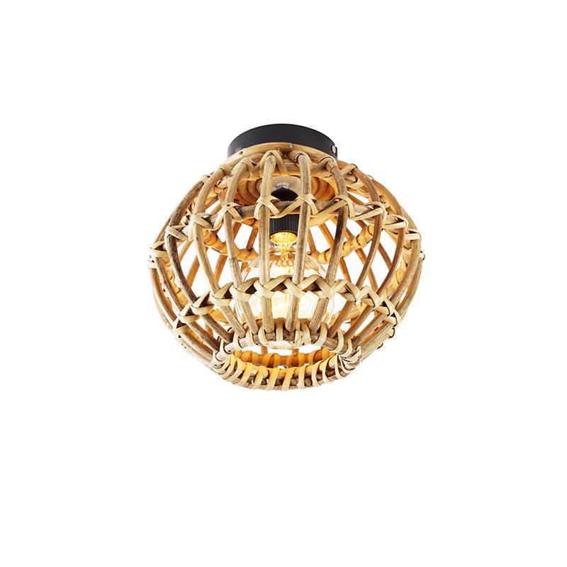 Landelijke plafondlamp bamboe 25 cm - Canna
