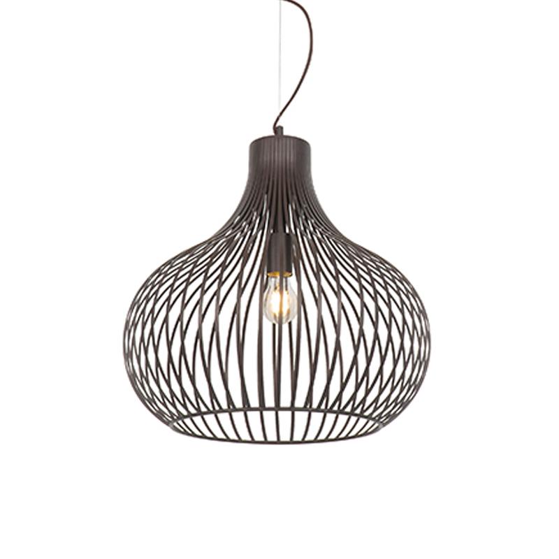 Moderne hanglamp bruin 48 cm - Frances Q