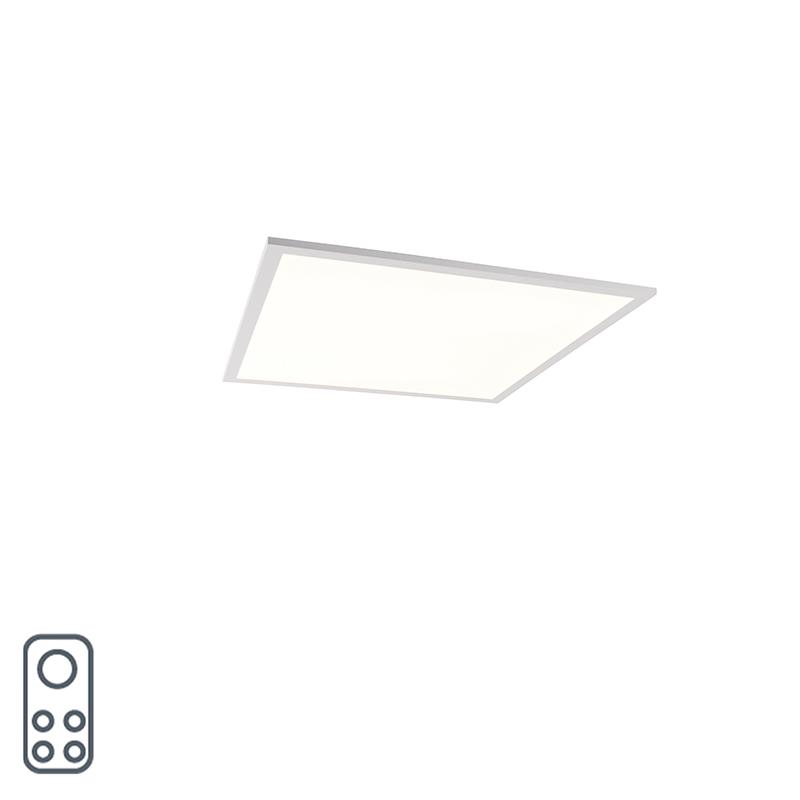 Plafonni�re wit incl. LED en dimmer met afstandsbediening - Liv
