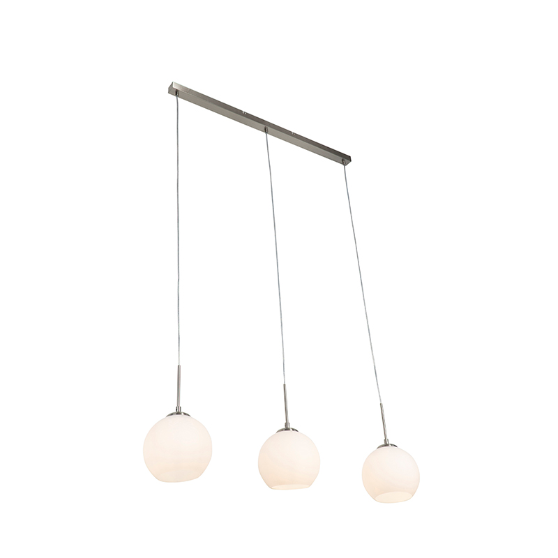 Moderne hanglamp 3-lichts staal - Eloy