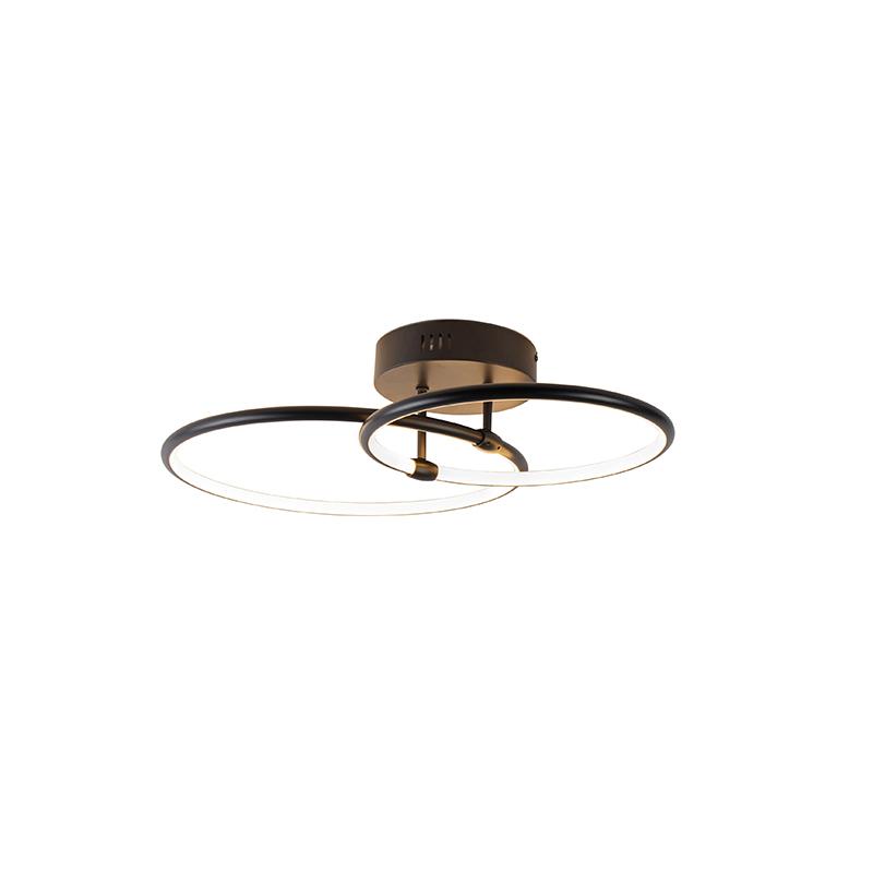 Design plafondlamp zwart incl. LED 3-staps dimbaar - Joaniqa