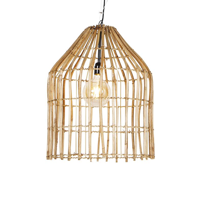 Landelijke hanglamp bamboe 57 cm - Canna
