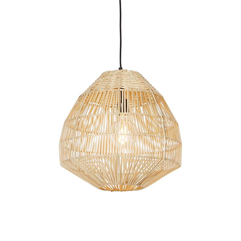 Landelijke hanglamp bamboe 41 cm - Bishop