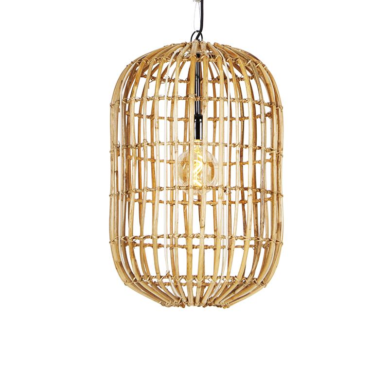 Landelijke hanglamp bamboe 53 cm - Canna