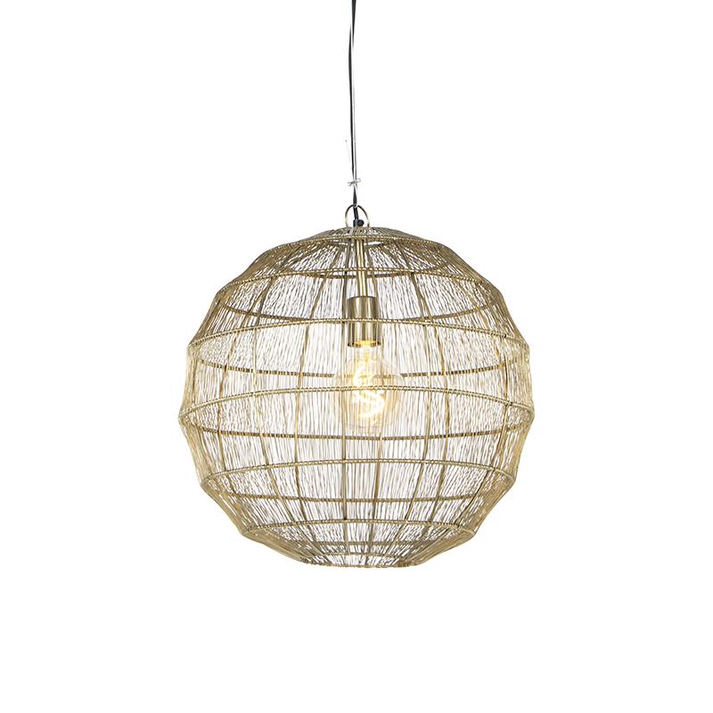 Moderne hanglamp messing 42 cm - Bolti