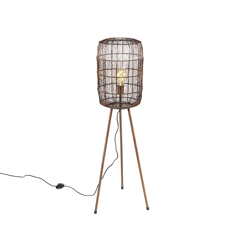 Moderne vloerlamp tripod koper - Redo