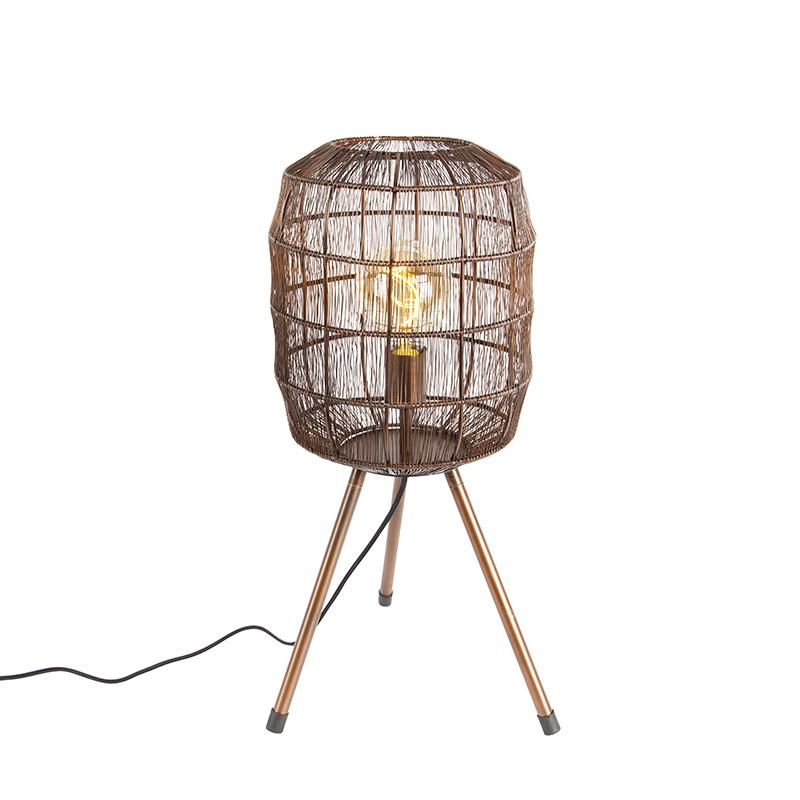 Moderne tafellamp tripod koper - Redo
