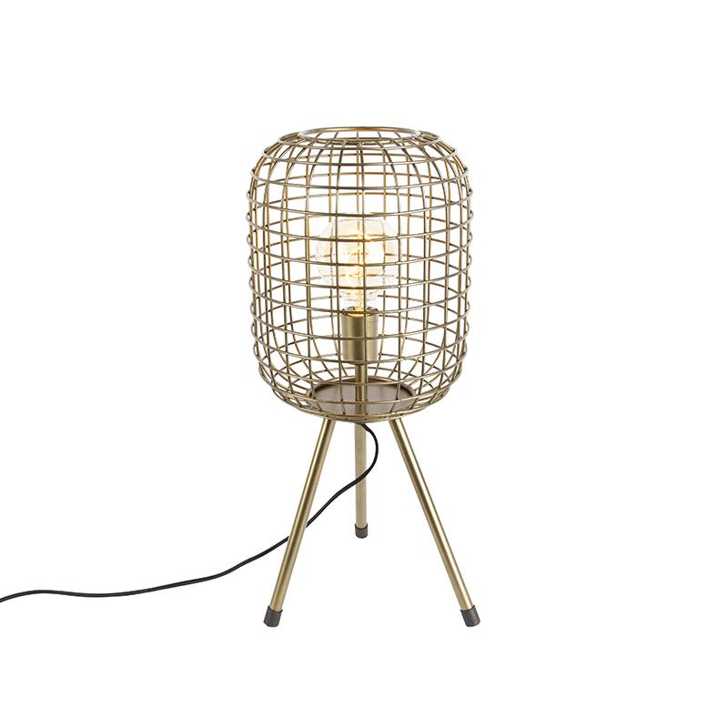 Moderne tafellamp tripod messing - Barir