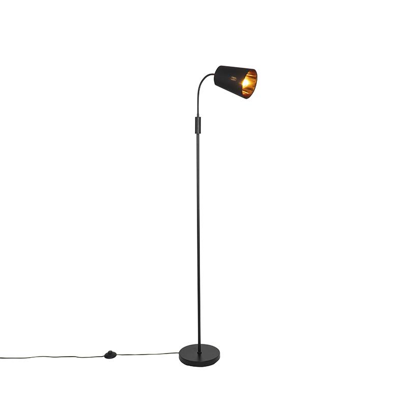 Moderne vloerlamp zwart - Carmen