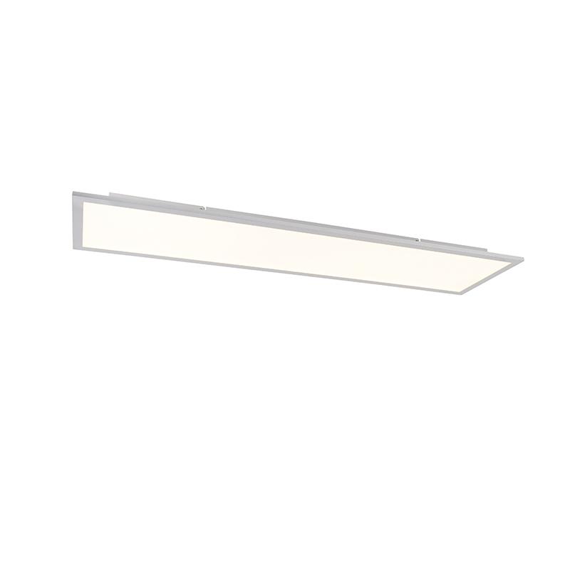 Modern LED-paneel staal 120 cm incl. LED en dimmer - Liv