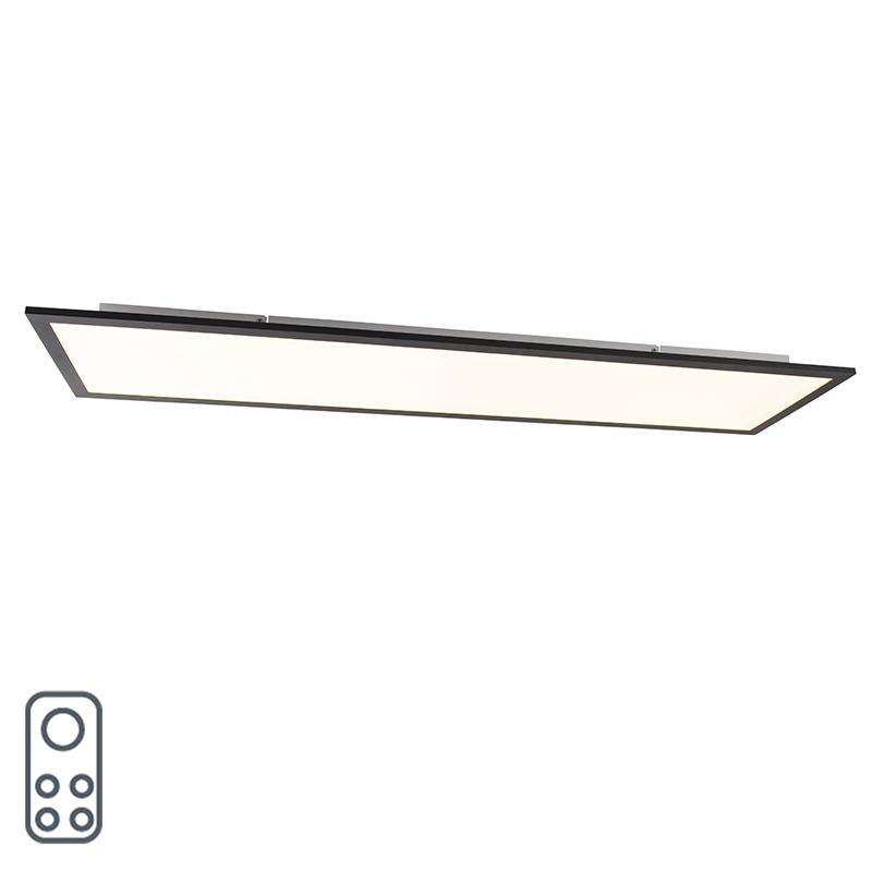 Modern LED-paneel zwart 120 cm incl. LED en dimmer - Liv Q