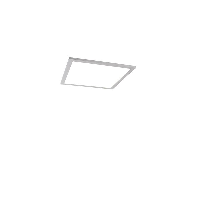 Modern LED-paneel staal 40 cm incl. LED - Liv