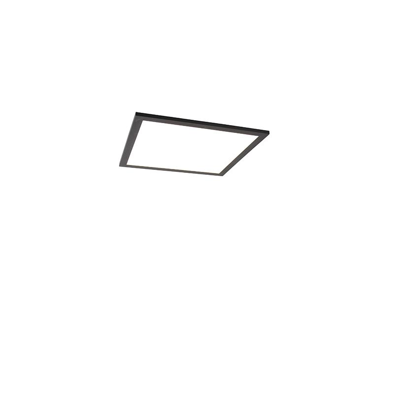 Modern LED-paneel zwart 40 cm incl. LED - Dalia Q
