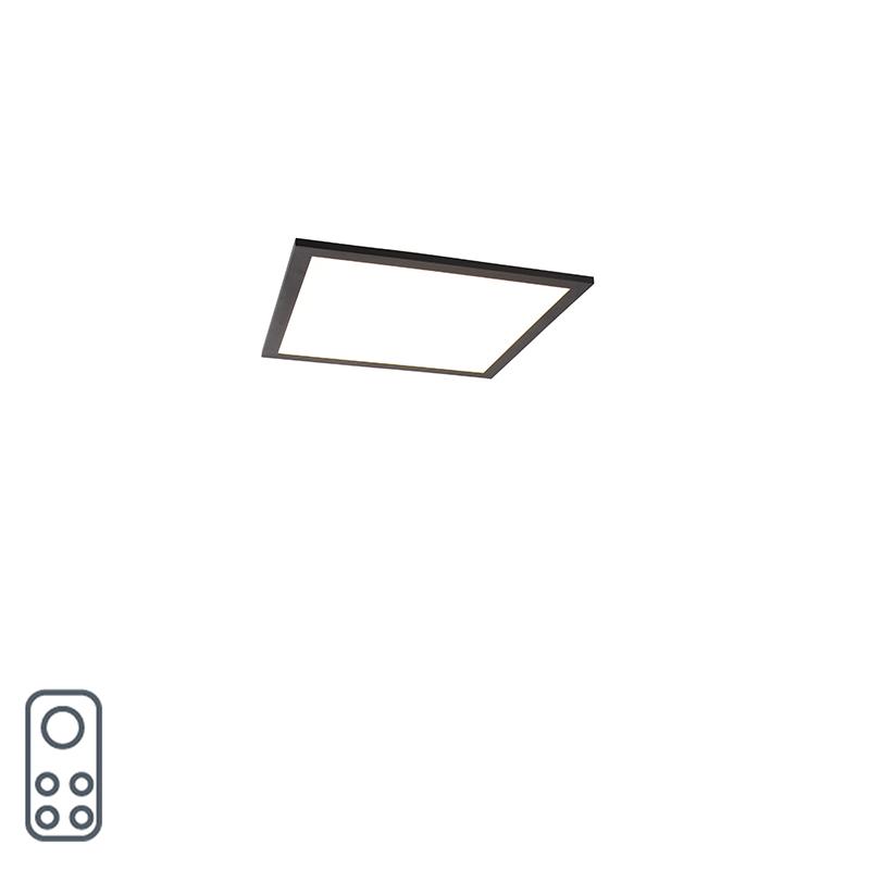 Modern LED-paneel zwart 40 cm incl. LED en dimmer - Liv