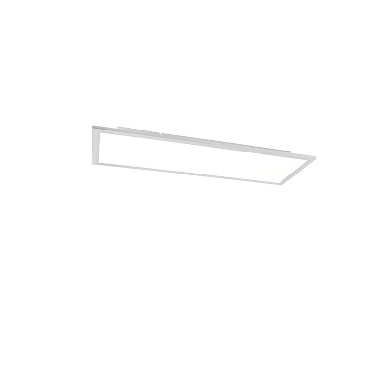 Modern LED-paneel staal incl. LED dimbaar met afstandbediening 80 cm - Liv