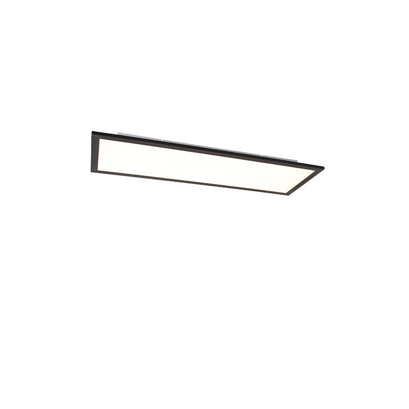 LED-paneel zwart incl. LED dimbaar met afstandbediening 80 cm - Liv