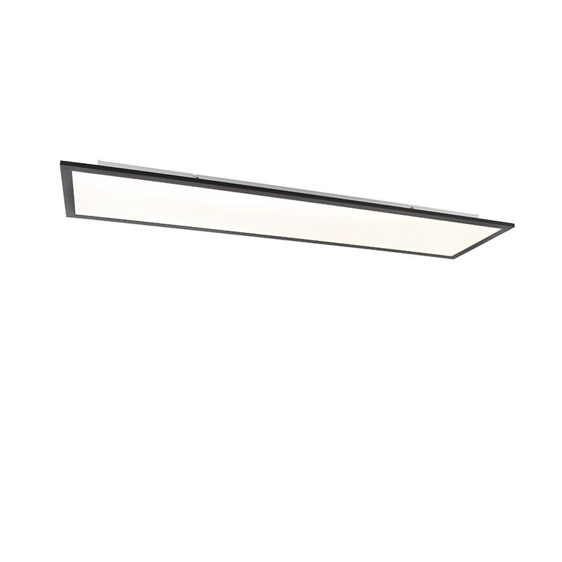 Modern LED-paneel zwart incl. LED 120 cm - Liv