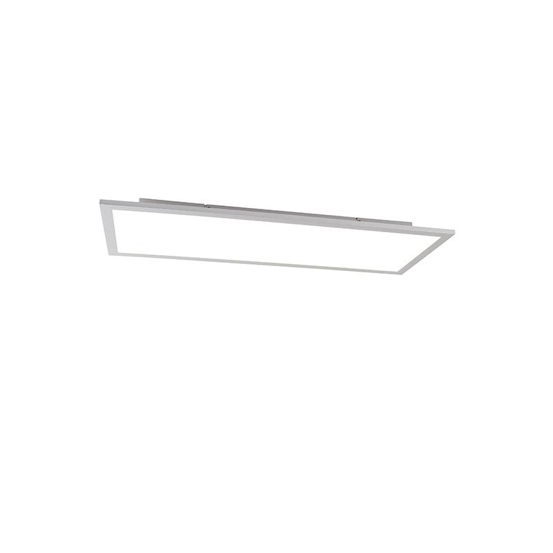 Moderne plafondlamp staal incl. LED 80 cm - Liv