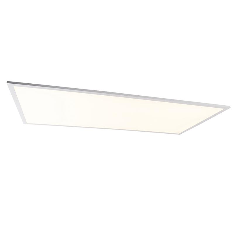Plafondlamp staal 120 cm incl. LED met afstandsbediening - Liv