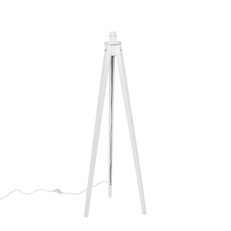 Landelijke vloerlamp tripod wit - Tripod Classic