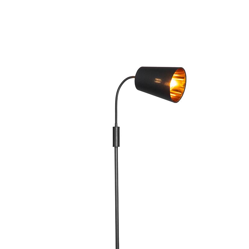 Moderná stojaca lampa čierna - Carmen