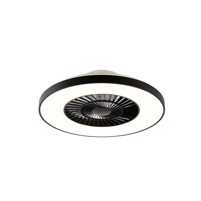Plafondventilator zwart incl. LED met afstandsbediening - Climo