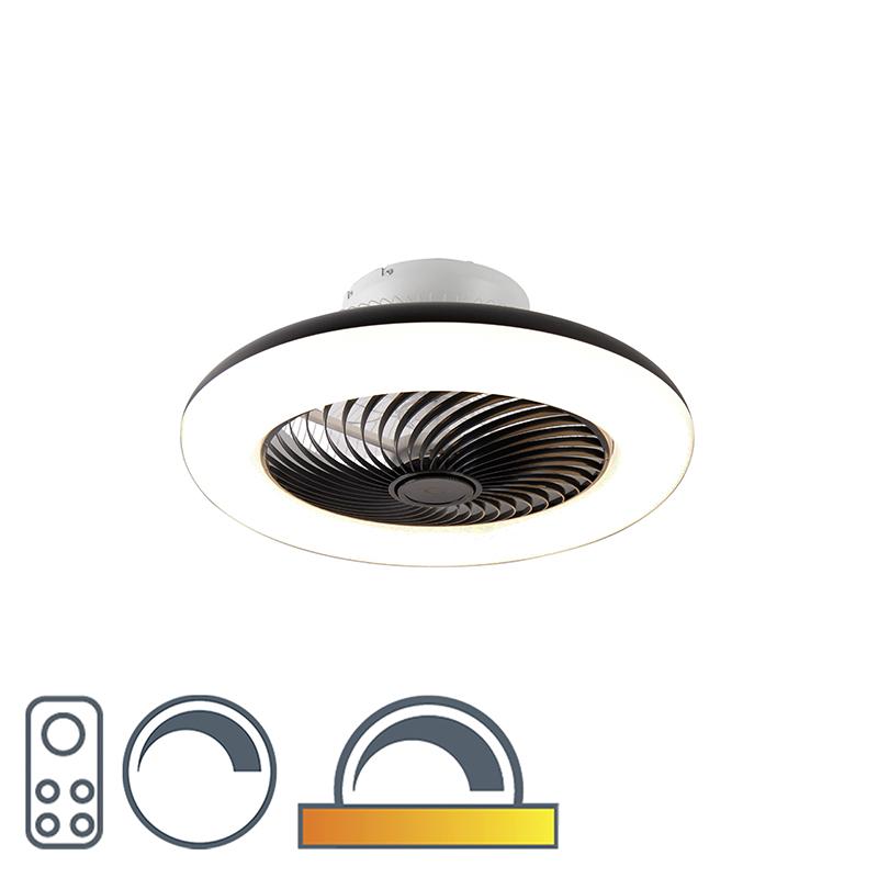 Wentylator sufitowy czarny LED ściemnialny - Clima