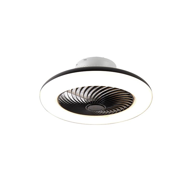 Design plafondventilator zwart dimbaar - Clima