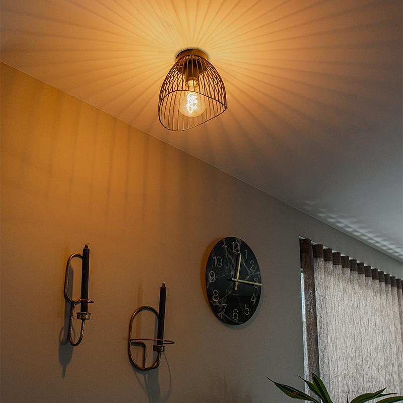 Design plafondlamp zwart 20 cm - Pua