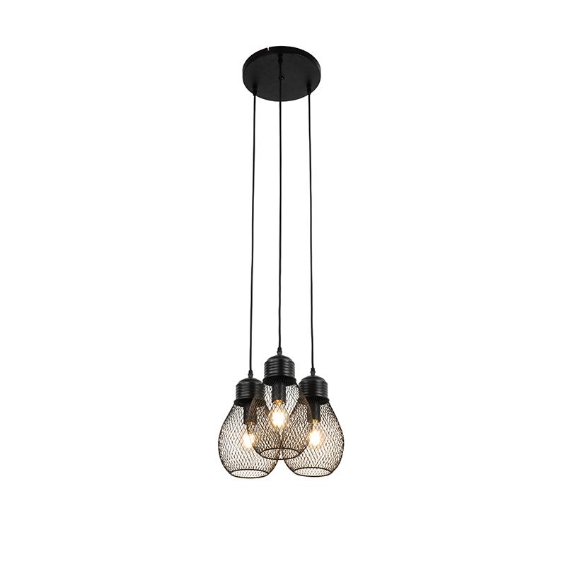Design hanglamp zwart 3-lichts - Raga