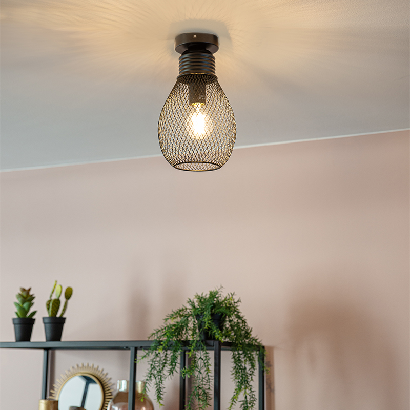 Design plafondlamp zwart - Raga