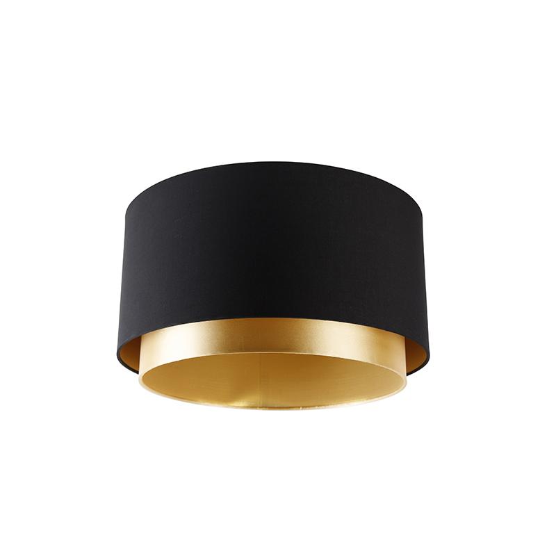 Duo lampenkap zwart en goud 47/47/22