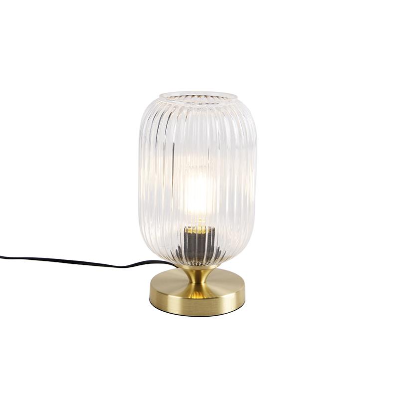 Mosiężna lampa stołowa Art Deco - Banci